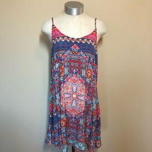 Tolani silk patterned cami dress mini